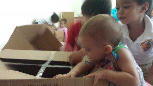 giochi con gli scatoloni centrifugato di mamma