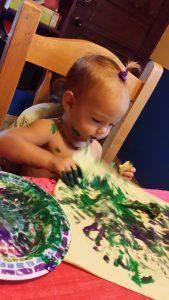dipingere con le verdure